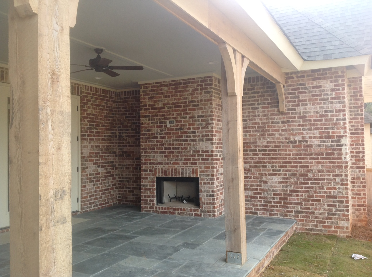 Annandale Ivory Backporch Fireplace South Alabama Brick