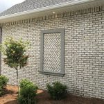 Magnolia Bay white brick with dark gray mortar