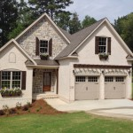 Woodhaven Tudor, Coyote Gray, natural stone, combining brick & stone