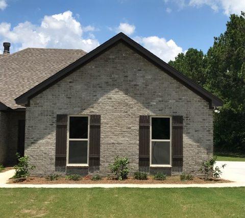 Henry Brick Chimney Rock gray brick with gray mortar