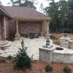 Tremron Sierra pavers and columns outdoor living